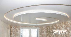 многоуровневый натяжной потолок фото
