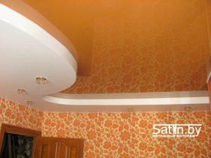 двухуровневый натяжной потолок для спальни заказать