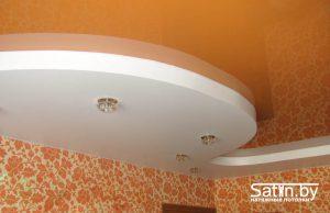 двухуровневый натяжной потолок спальня фото