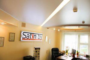 сатиновый натяжной потолок в Минске дешево