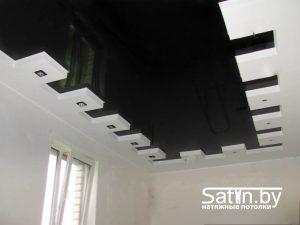 натяжной потолок распродажа черно-белый