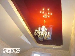 натяжной потолок распродажа красно-белый