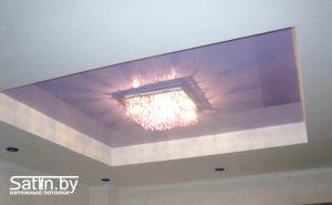 натяжной потолок для гостиной фото