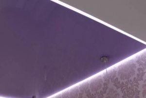 Парящий потолок в спальне фото