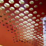 бело красный Резной натяжной потолок Apply минск