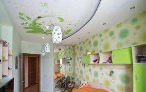 натяжной потолок фотопечать детская комната