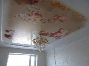 натяжной потолок фотопечать ангелы