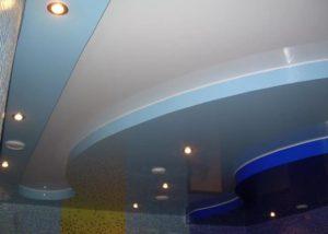 Многоуровневые натяжные потолки в Минске бассейн
