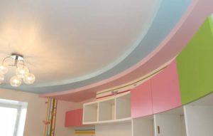 Многоуровневые натяжные потолки в Минске детская