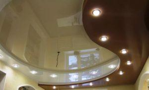 Многоуровневые натяжные потолки в Минске комната