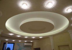 Многоуровневые натяжные потолки в Минске недорого