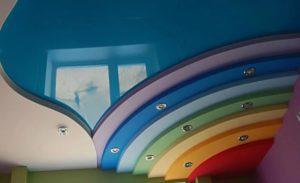 Многоуровневые натяжные потолки в Минске радуга