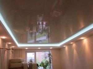 Натяжной потолок с подсветкой недорого Минск минская область зал
