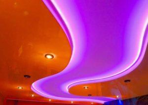 Натяжной потолок с подсветкой недорого