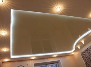 Натяжной потолок с подсветкой в Минске