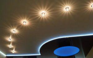 Натяжной потолок с подсветкой LED