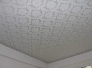 тканевый натяжной потолок фотопечать с узором
