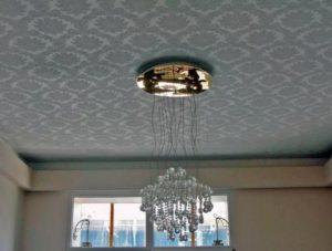 натяжные потолки как выбрать - тканевый натяжной потолок фото с фотопечатью орнамерт