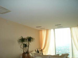 тканевый натяжной потолок фото стильный