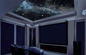 натяжной потолок звездное небо 11