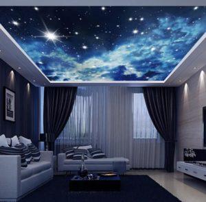 натяжной потолок звездное небо 12