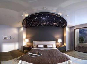 натяжной потолок звездное небо 13
