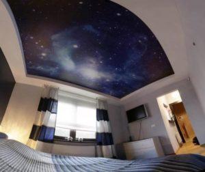 натяжной потолок звездное небо 16