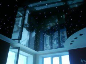 натяжной потолок звездное небо 18