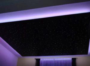 натяжной потолок звездное небо 21