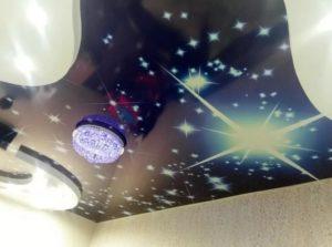 натяжной потолок звездное небо 22