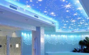 натяжной потолок звездное небо 23