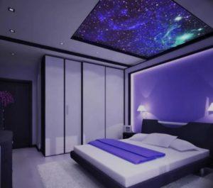 натяжной потолок звездное небо 25