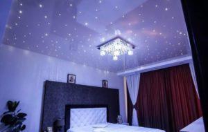 натяжной потолок звездное небо 26