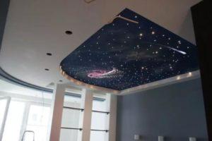 натяжной потолок звездное небо 28