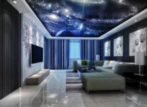 натяжной потолок звездное небо 29