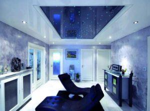 натяжной потолок звездное небо 30