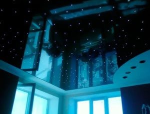 натяжной потолок звездное небо 31