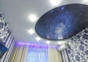натяжной потолок звездное небо 5