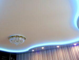 натяжной потолок с подсветкой 11