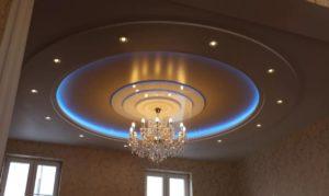 натяжной потолок с подсветкой 15