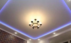 натяжной потолок с подсветкой 16