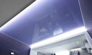 натяжные потолки с подсветкой 17