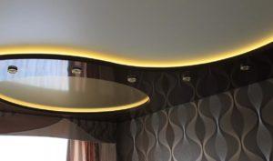 натяжные потолки с подсветкой 18
