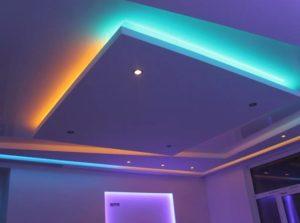 натяжные потолки с подсветкой 20