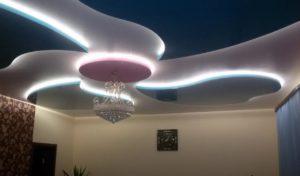 натяжные потолки с подсветкой 23