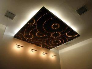 натяжные потолки с подсветкой 26