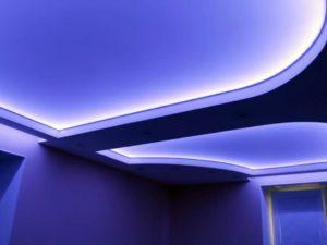 натяжные потолки с подсветкой 27