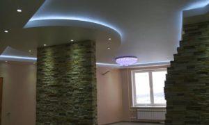 натяжные потолки с подсветкой 28