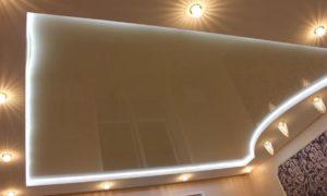 натяжные потолки с подсветкой 29