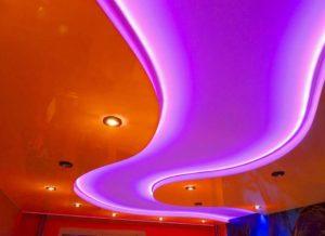 натяжные потолки с подсветкой 32